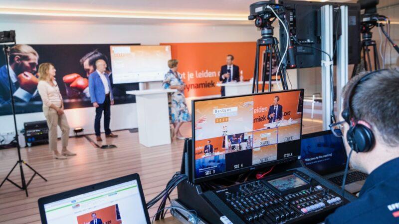 Webinar-opstelling-tijdens-online-event-iBestuur-Congres-2020-bij-Papendal