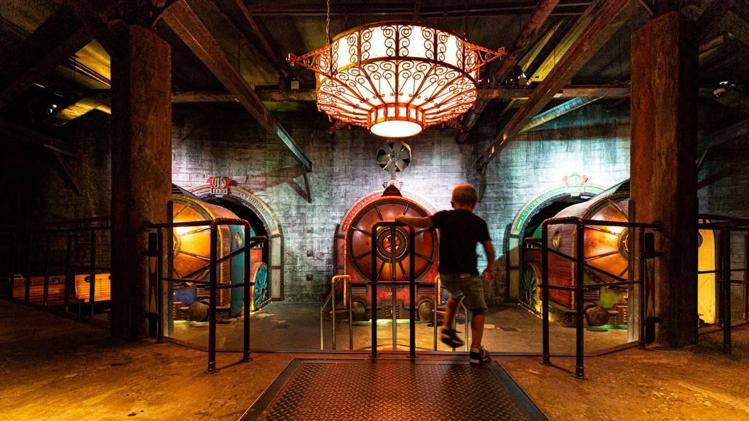 vuurproef attractie bij Spoorwegmuseum