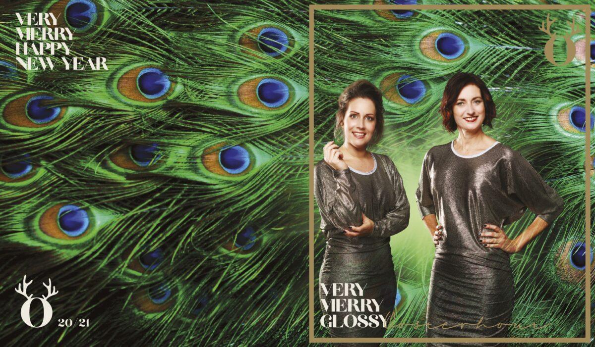 Very Merry Glossy magazine Oosterhout met twee vrouwen op de cover en pauwenveren