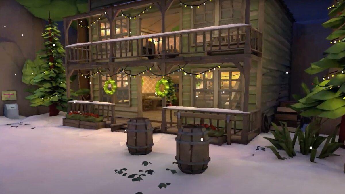 Mibo virtuele wereld saloon in de sneeuw