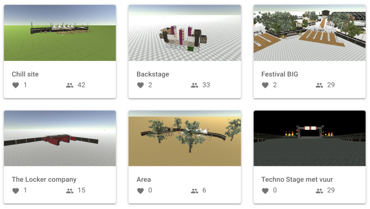 Showcases Layhgobuilder printscreen website