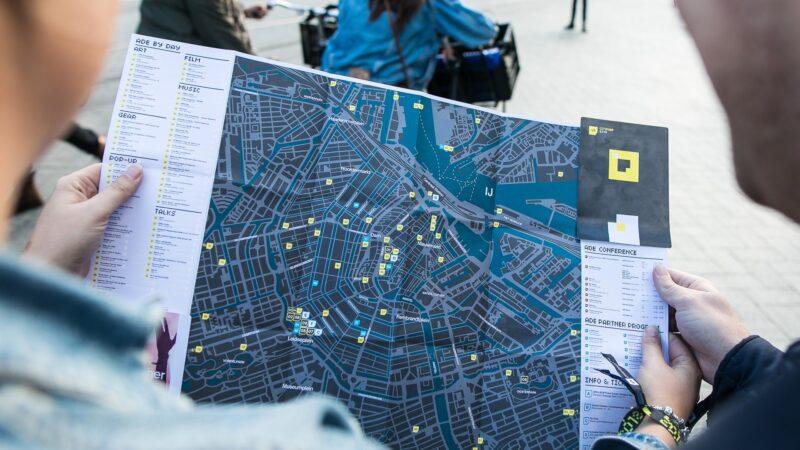 ADE plattegrond van Amsterdam (foto- Piet van Strijp)