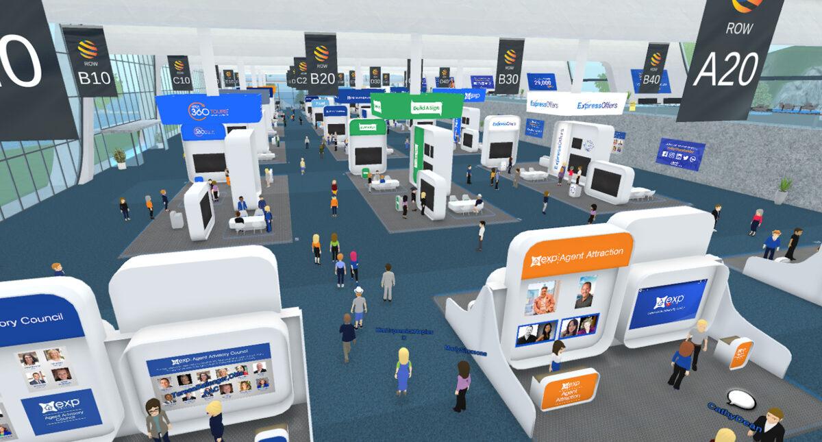 GoMeet-beursvloer met avatars