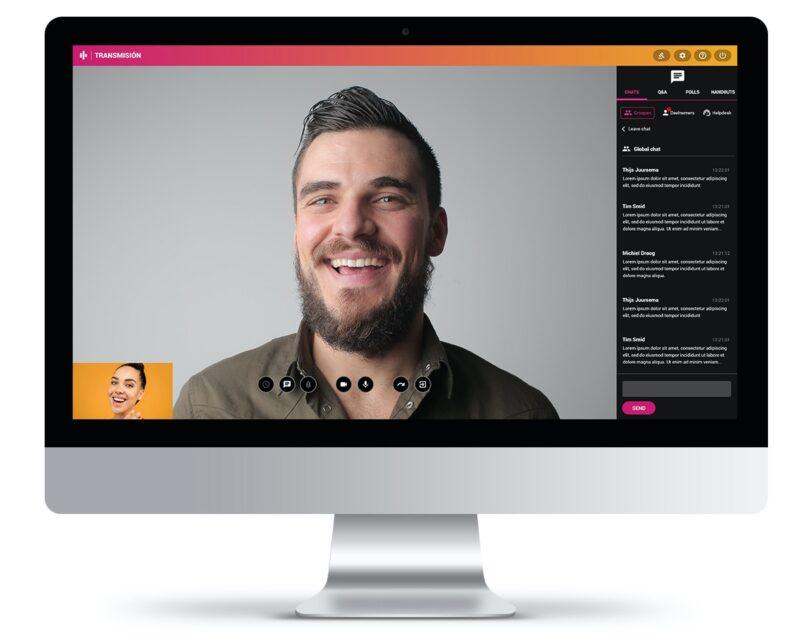 Online meeting Transmisión Livestreams van Invitado