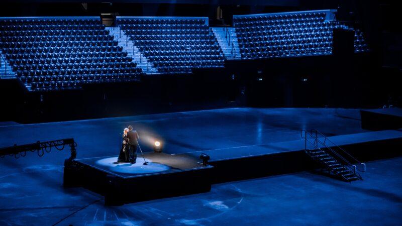 Optreden Willeke Alberti en Dinand tijdens VVAL (foto-Set Vexy)