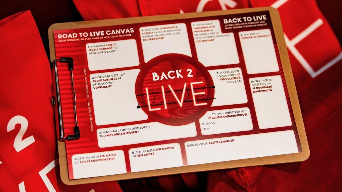 Back 2 Live Road to Live Canvas vragenlijst