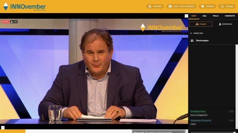 Eppo Nispen - van Sevenaer bij online event INNOvember online event (Beeld: Invitado)