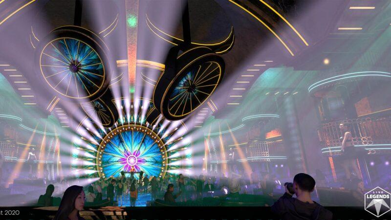 Lichtshow op podium