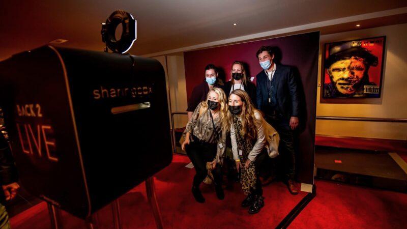Sharingbox fotobooth tijdens Back 2 Live congres in Beatrix Theater