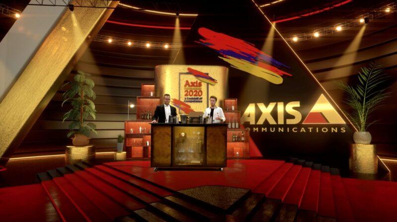 Twee presentatoren bij Axis Communications