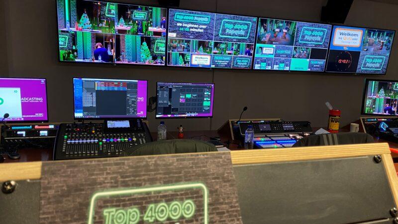 Veel schermen naast elkaar