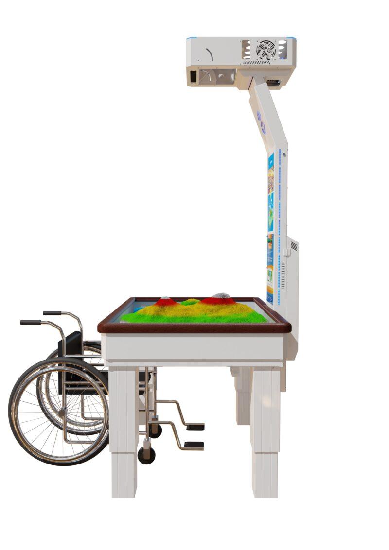 zandtafel met projectie geschikt voor rolstoelen