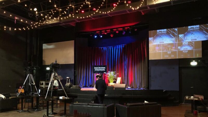Livestream studio bij Boom Chicago 1