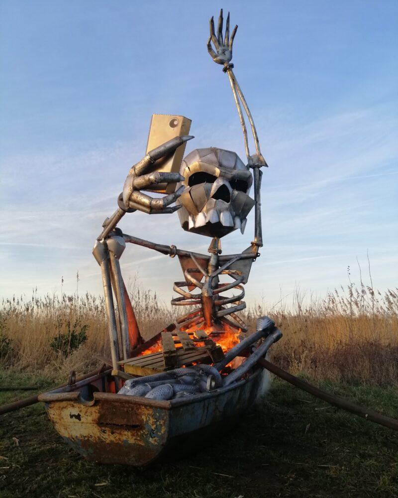 Scrap Design kachel in vormen van skelet voor op festivals en events