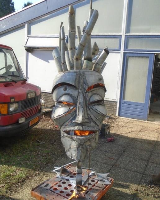 Scrap Design kachel in vorm van masker voor op festivals en events