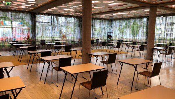 Examenopstelling in restaurant O55 Theater Congrescentrum Orpheus