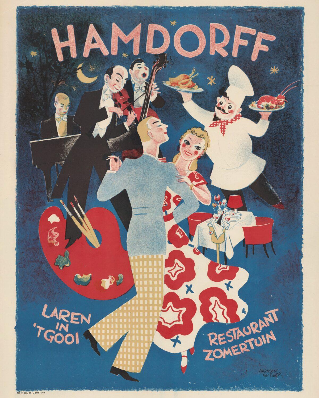 Hamdorff pamflet restaurant zomertuin Singer Laren