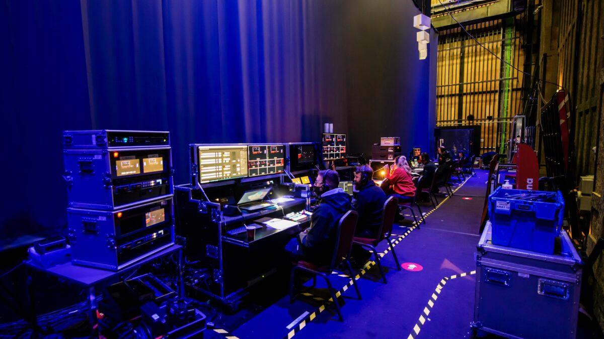 Regie tijdens back to live testevent Fieldlab (foto - Nico Alsemgeest)