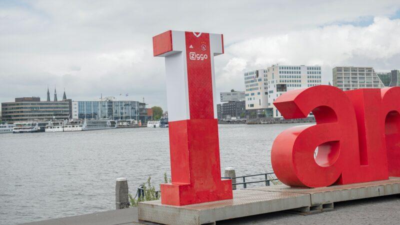 Voetbalshirt van Ajax gemaakt op I van I Amsterdam
