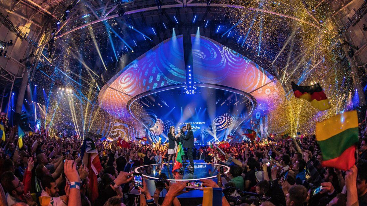 Decor Unbranded tijdens prijsuitreiking songfestival Kiev_2017