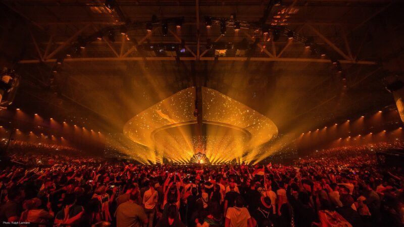 Eurovision Kyiv - decor met gouden twinkeling - Unbranded