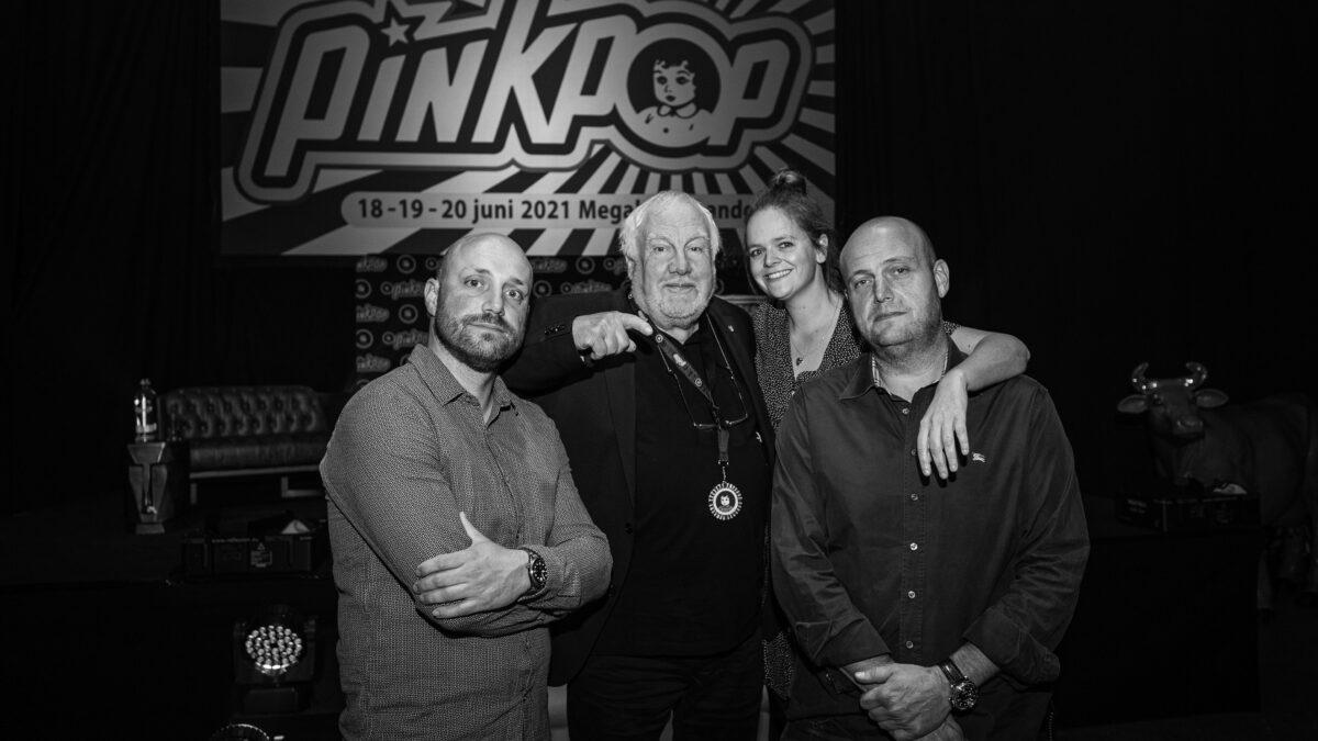 Foto George Deswijzen - Jan, Sierk, Tirsa en Niek Buro Pinkpop