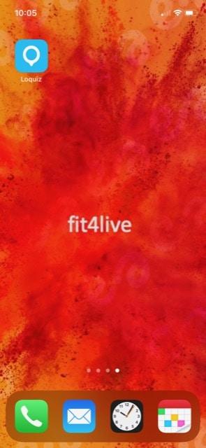 Icoontje fit4live app op telefoon