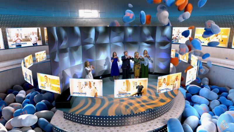 Koninklijke Mixed Reality Experience - Koninklijke familie die hartje geeft aan de zorg - live legends en Philips