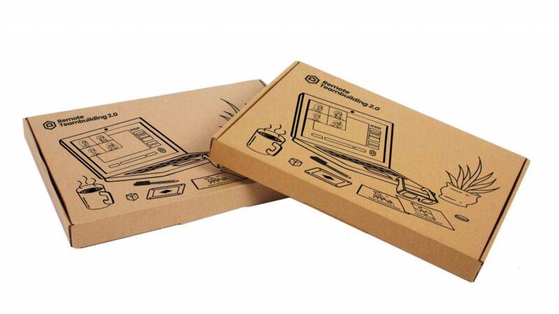 The Box Company Remote Teambuilding doosje die door brievenbus past