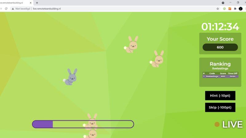 The Box Company Remote Teambuilding - screenshots scherm met spel3