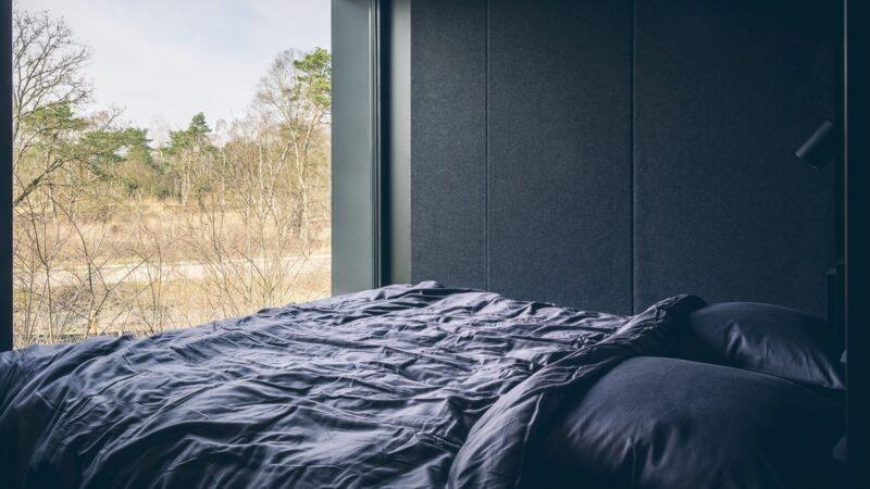 Cuber slaapkamer overnachting in de natuur