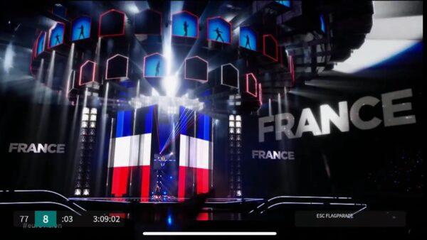 Mark Pos vlaggenparade Eurovision Songcontest