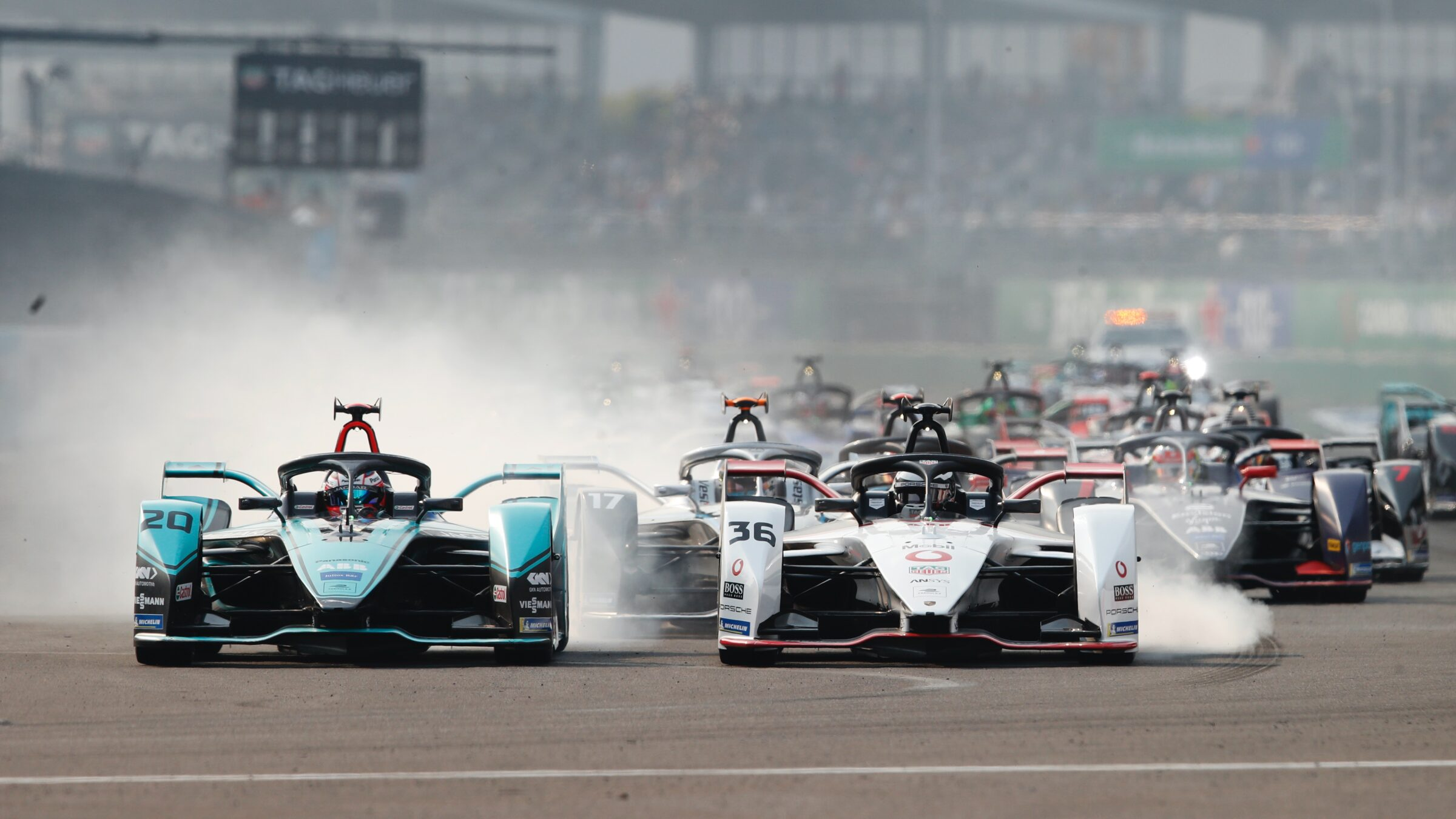 Formule E racewagens