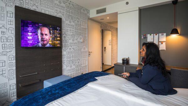 Foto Sander Boer - NXT MICE Re-Invent hotelkamer met video eventmanager