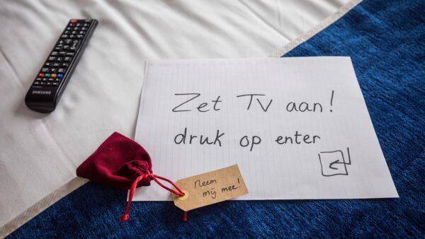 Foto Sander Boer - NXT MICE Re-Invent instructies op hotelkamer