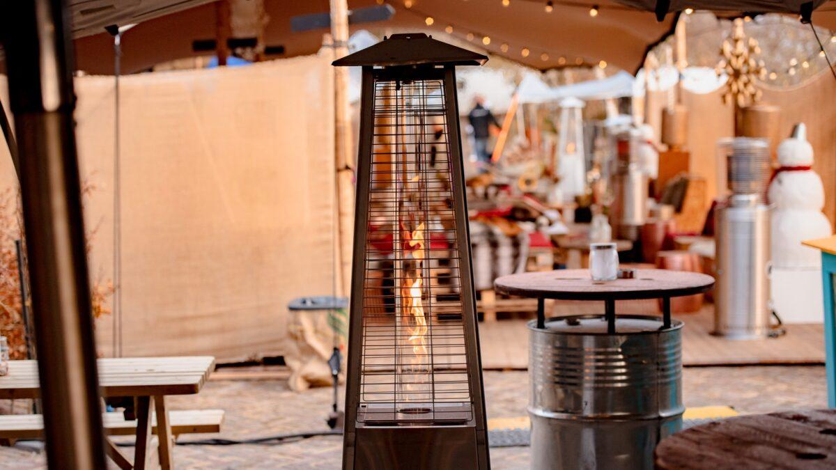 2nice - heater op dakterras in kerstsfeer